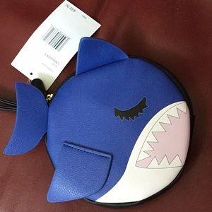 Baby shark wristlet purse